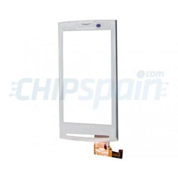 Vidro Digitalizador Táctil com Quadro Sony Ericsson Xperia X10 -Branco