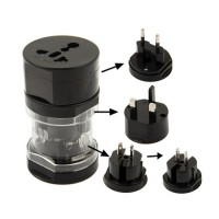 Viagens Universal Power Adapter -Preto