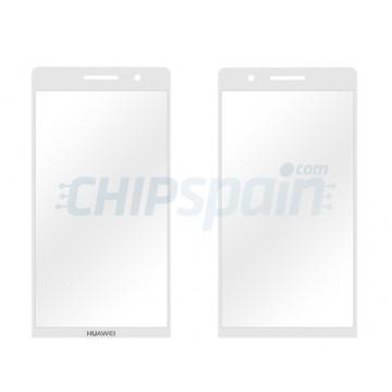 Cristal Exterior Huawei Ascend P6 -Blanco