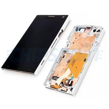 Tela Cheia con Marco Sony Xperia S -Preto