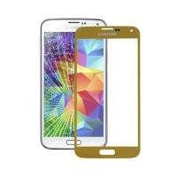 Cristal Exterior Samsung Galaxy S5 -Oro