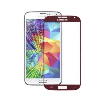 Exterior Glass Samsung Galaxy S5 -Red