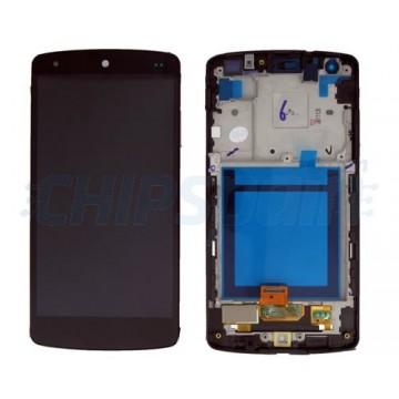Tela Cheia com Moldura LG Nexus 5 (D820/D821) -Preto