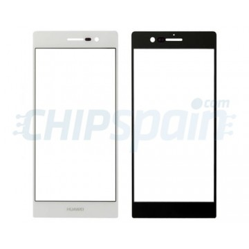 Cristal Exterior Huawei Ascend P7 -Blanco