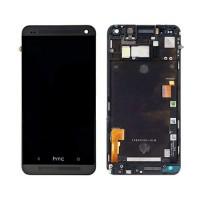 Tela Cheia com Moldura HTC One M7 -Preto
