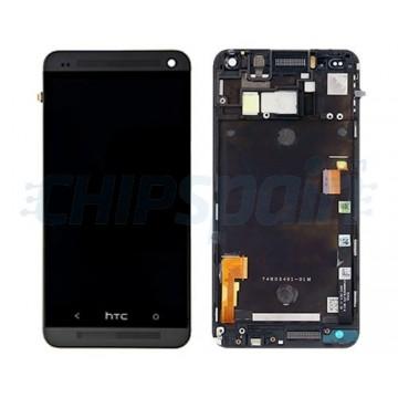 Pantalla Completa con Marco HTC One M7 - Negro