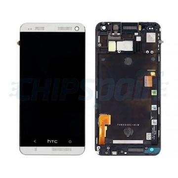 Tela Cheia com Moldura HTC One M7 -Prata